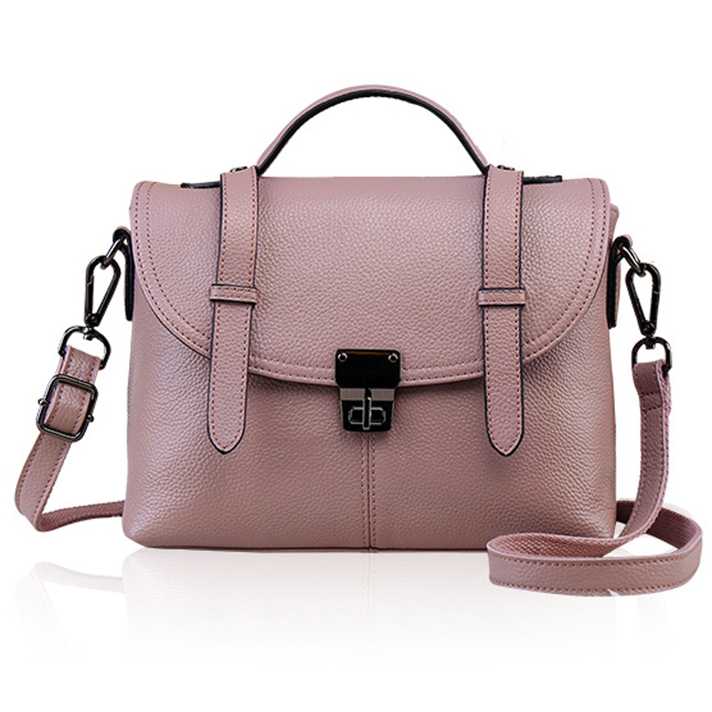 Large Brand NEW 2017 Genuine Leather Women Handbag Casual Fashion Lock Shoulder Bag Women Bag Messenger Bags Female Bolsa LY146<br><br>Aliexpress