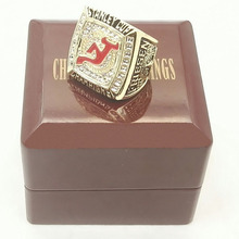Factory Direct Sale NHL 2003 New Jersey Devils Stanley cup Hockey Sports Replica Championship Ring with Wooden Boxes(China)