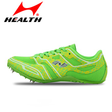HEALTH trail sports running shoes for men spike runing spikes athletics sprint spikes male female nails training shoes sneakers