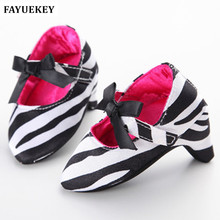 FAYUEKEY Hot Sale Baby Party High Heels Prewalker Girls Princess First Walkers Newborn Moccasins Infant Toddler Shoes For Photos(China)