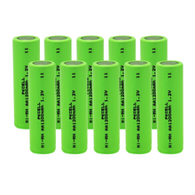 10PCS NI-MH rechargeable battery flat top AA 1200mAh 1.2V Industrial Battery PKCELL(China)