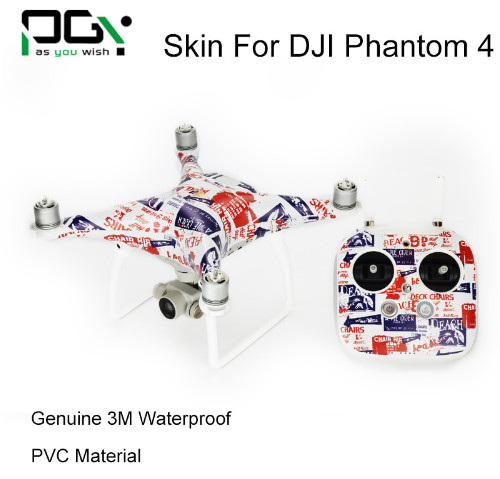 PVC 3M Waterproof Sticker Skin for DJI Phantom 4 Professional accessories phantom4 professional Quadcopter Drone parts<br><br>Aliexpress