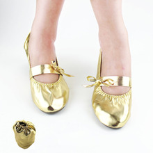 2017 Women Belly Dance shoes Top New Arrival gold/silver soft heel Belly Dancing Shoes Comfortable India Practice Balle(China)