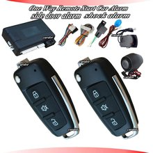 remote start car alarm system with remote key,window rolling up,central lock automatication,ultrasonic sensor alarm,shock sensor