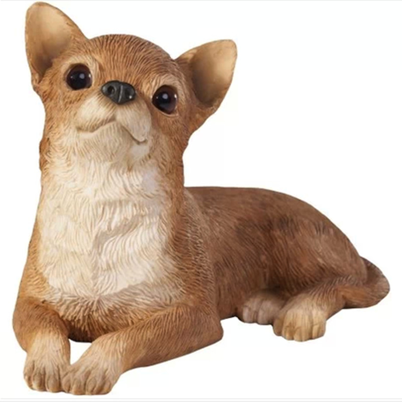 NEW resin artificial Chihuahua figure,car styling home room decoration,poodle dog fans collection article Christmas gift toy<br><br>Aliexpress