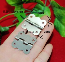 30 * 25mm butterfly hinge white wooden packing boxes hinge connecting piece 90 fixed buckle clasp hinge after deduction