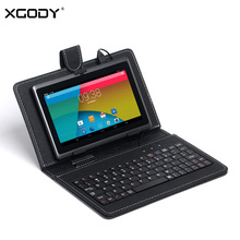 XGODY T73Q 7 Inch Tablet PC Android 4.4 Allwinner A33 Quad Core 1.3GHz 512MB RAM 8GB ROM WiFi OTG Free Keyboard Case 8GB SD Card