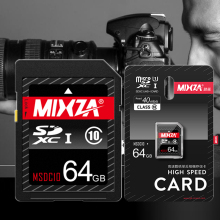 High Speed MIXZA Class10 SD Card 64GB SDXC UHS-I U1 Flash Memory Card For Digital SLR Camera Full HD 3D Video Camcorder