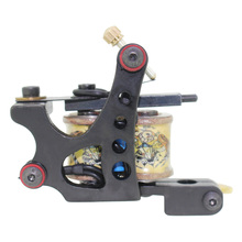Free Shipping! Hot Professional Handmade Tattoo Machine Retail or Wholesale 10 Wrap Coils Machine 1100246
