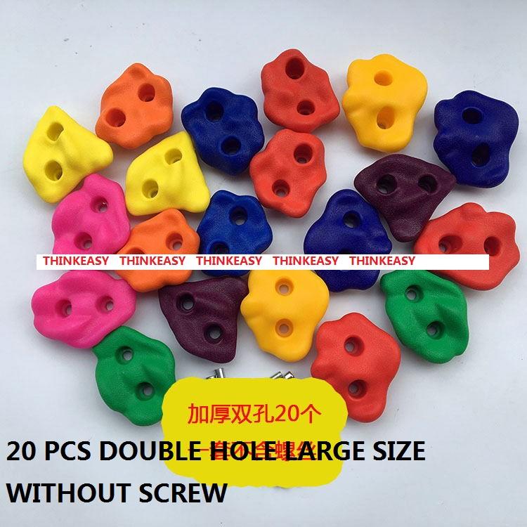 HTB170ztRXXXXXbJXpXXq6xXFXXXv - 16 to 32 PCS / SET Plastic children Rock Climbing Wall Rock Stones Kids Toys Sports tool outdoor game kindergarten Without scre