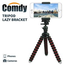 Mini Cell Phone Tripod Stand Flexible mobile phone holder  Octopus Mount for iPhone for Samsung Camera (Black and Red)