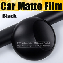 Top quality 10/20/30/40/50/60X152CM/Lot Matte Black Vinyl Film for car wrapping Car matte vinyl sticker with air free bubbles