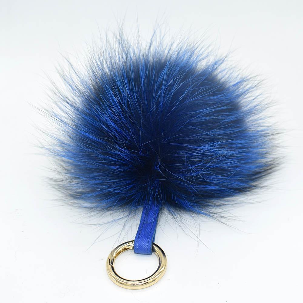 silver fox pompom keychain4