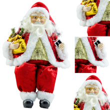 Hot Sale Fashion Christmas Site Decorations Santa Claus Doll Figurine Toy Home Room Ornament Decoration Decor Gift Enfeites F3