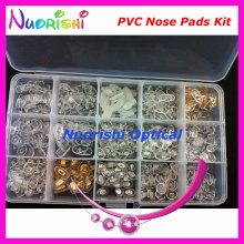 Contain 15 Different Types PVC Plastic Glasses Eyewear Eyeglass Accessories Nose Pads Kit Set HBN15 Free Shipping