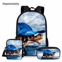 d2c75fecd171 Nopersonality Cool Sea Turtle Print School Bag Set for Teen Boys Girls  Unique Elementary Student Kids Schoolbag Child Bookbags