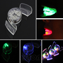 1pc LED Flash Light Mouth Guard Piece 4 Colors Party Glowing Tooth Toy-F1FB