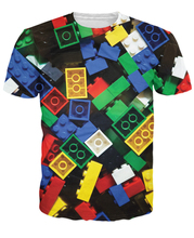 Summer Style Lego Bricks T-Shirt super popular children's toy 3d print t shirt camisetas for Unisex Women Men Plus Size S-XXL(China)