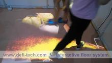 Low price interactive floor projection system, interactive projection floor system software for interactive advertising