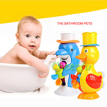 2018 Baby Bath Toys for Kids Bath Ducks Water Toys Bebek Oyuncaklar 13-24 Ay Play with Water Toys-for-children rubber duck(China)