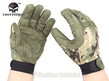 Hunting Shooting EMERSON Tactical Lightweight Camouflage Gloves airsoft wargame gear gloves EM8718 AOR2(China)