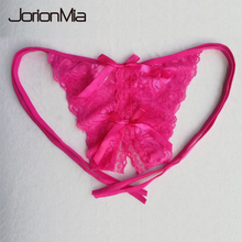 Buy New Arrive Women Pink Sexy Panties Fashion Ladies Underwear Women Briefs Thongs G-string Lingerie Crotchless Plus size 2085
