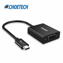 CHOE 1080P USB 3.1 USB Type C to VGA Adapter HUB (Thunderbolt 3 Port Compatible) for MacBook,Lumia 950 XL,LG G5,Chromebook Pixel
