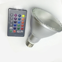 LED Par38 10W 15W E27 Par 30 LED spotlight lamp RGB dimmable SMD5730 Umbrella bulblight refletor waterproof 110V 220v 240v