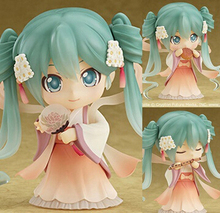 NEW hot 10cm Q version Hatsune Miku Mid Autumn festival moon cake mobile action figure toys collection christmas toy doll(China)