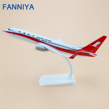 FANNIYA 20cm Alloy Air China ShangHai Airlines Boeing 737 B737 Airways Model Plane Aircraft Airplane Model w Stand Crafts