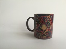 tiger mugs the lion king cups coffee mugs heat Reveal kid cup transforming Tea travel magic mug beer cup heat changing color mug