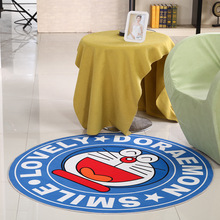 Blue Cartoon Round Mat 60/80/100/120/160CM alfombras dormitorio Carpet Living Room Deurmat rugs Swivel chair Mats tapis chambre