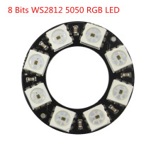 Smart Electronics 8 Bits WS2812 5050 RGB LED Ring Lamp Light Integrated Drivers arduino Diy Kit