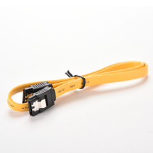 JETTING 2PCS 40cm Serial ATA SATA 3 RAID Data HDD Hard Drive Disk Signal Cables Yellow Red Straight High Speed SATA Data Cable