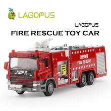 lagopus 1:50 Fire Rescue Toy Cars Fire Engines Water Tankers Model Cars Toy For Children(China)