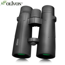 OLIVON Red-crowned crane series binocular telescope 10*50 or 12*50 high magnification professional telescope waterproof(China)