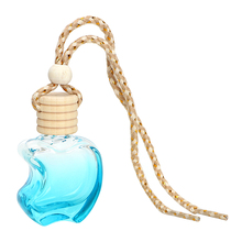 Crystal Glass Apple Air Freshener For Essential Oils Car Perfume Bottle Auto Ornament Car Accessories Perfume Pendant Colorful(China)