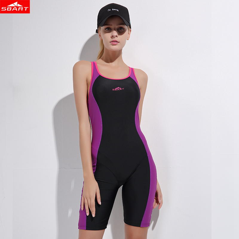 SBART New Women Boxer One Piece Swimsuit Woter Sport Swimwear Swimming Bodysuit Backless Beach Wear Bathing Suits Swim Monokini<br>
