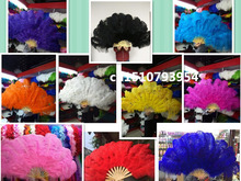 Wholesale 1pcs beautiful big natural ostrich feather fan Dance performance Dance performance Christmas decoration diy(China)