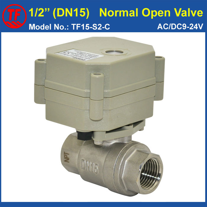 2-Way BSP/NPT 1/2 SS304 (DN15) Normal Open Valve AC/DC9-24V 2 Wires TF15-S2-C Power Off Return Valve For Water Application<br><br>Aliexpress