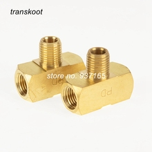 "3600  130425 1/8"" 1/4"" 3/8"" NPT Female and Male 3 Way Brass Pipe Fitting Brass Male Branch Tee"
