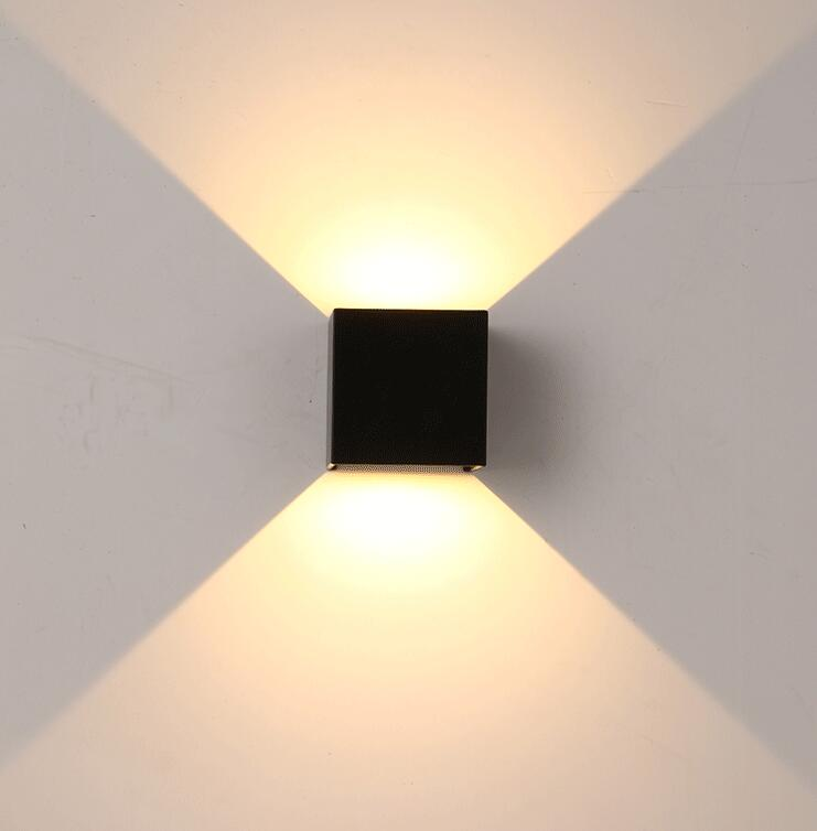 Dimmable COB IP65 cube adjustable surface mounted outdoor LED lightig LED indoor 15W wall light up down LED wall lamp<br>