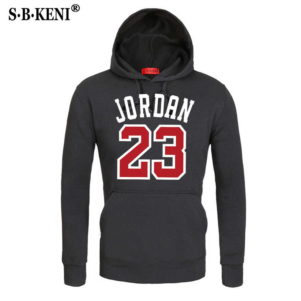 2018 бренд мужской хип хоп с длинным рукавом JORDAN 23 толстовка капюшоном Мужская  Спортивный костюм пот 6163f2b54bb