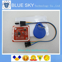 Free Shipping 1pcs PN532 NFC RFID module V3, NFC with Android phone extension of RFID provide Schematic and library