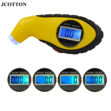 JCOTTON Digital Tire pressure monitoring LCD display Tire Pressure sensors tyre Pressure Meter Gauge with 4 settings PSI for Car(China)