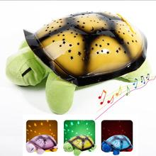 Green Cute Turtle Music Star Sky Projector Children Bedroom Light Lamp Gift