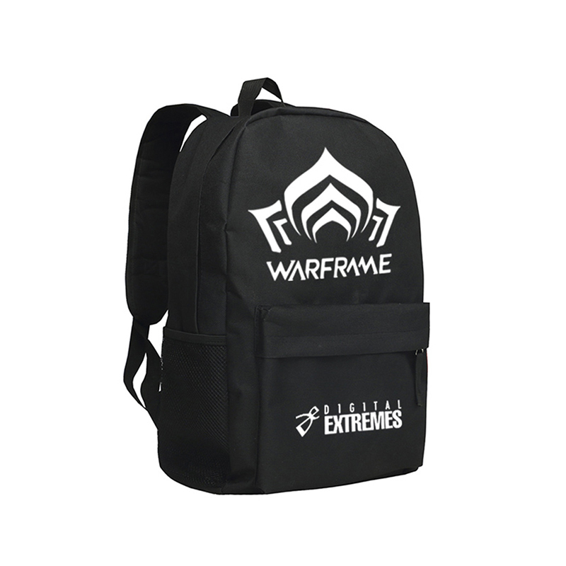 Computer Game Warframe Backpack ACG Online Shoulder Bag Boys and Girls School Bag Men Daypack<br>