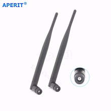 Aperit 2 6dbi Wireless 2.4GHz RP-SMA WiFi Antenna Booster For Netgear Linksys D-Link Router(China)