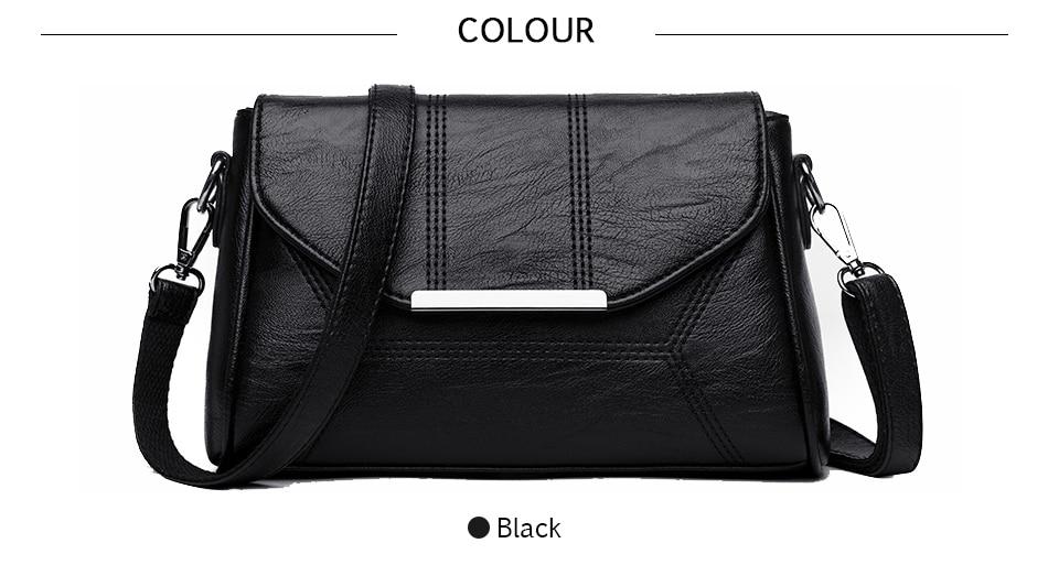 2018 New Soft Crossbody Bags For Women Pu Leather Handbags Designer Women Shoulder Bags High Quality Solid Women Messenger Bags
