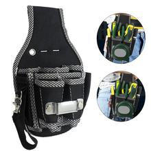 Protable 9 in 1 Drill Screwdriver Utility Kit Holder Top Quality Nylon Fabric Tool Bag Electrician Waist Pocket Tool Belt Pouch(China)